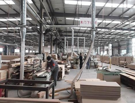 木材厂中央除尘器系统管道图内部布置