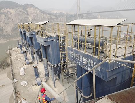 拉法基地维水泥厂库顶除尘系统