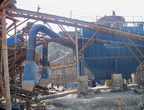 重庆前峰石材加工厂振动筛除尘系统
