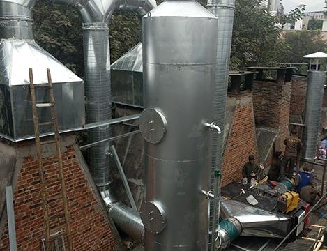 白市驿板鸭油烟处理项目安装现场